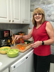 Esther Lizz Lee cooking a healthy meal